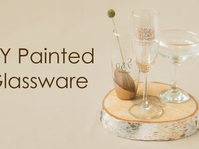 How to create elegant painted glassware