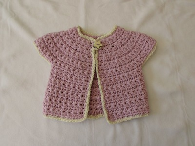 How to crochet a chunky star stitch baby cardigan. sweater. jumper