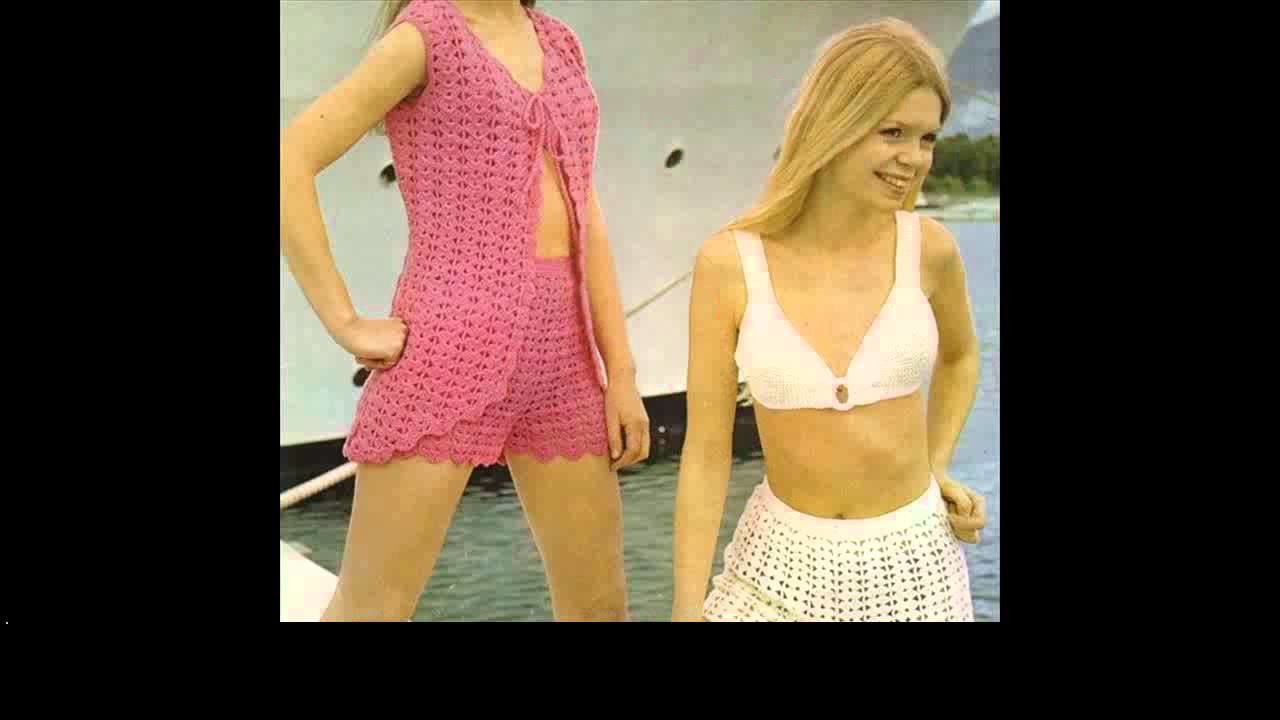 How to crochet bikini triangle