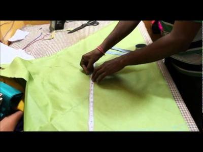 How to cut chooridar pajama. Tutorial Video on Churidar pajama