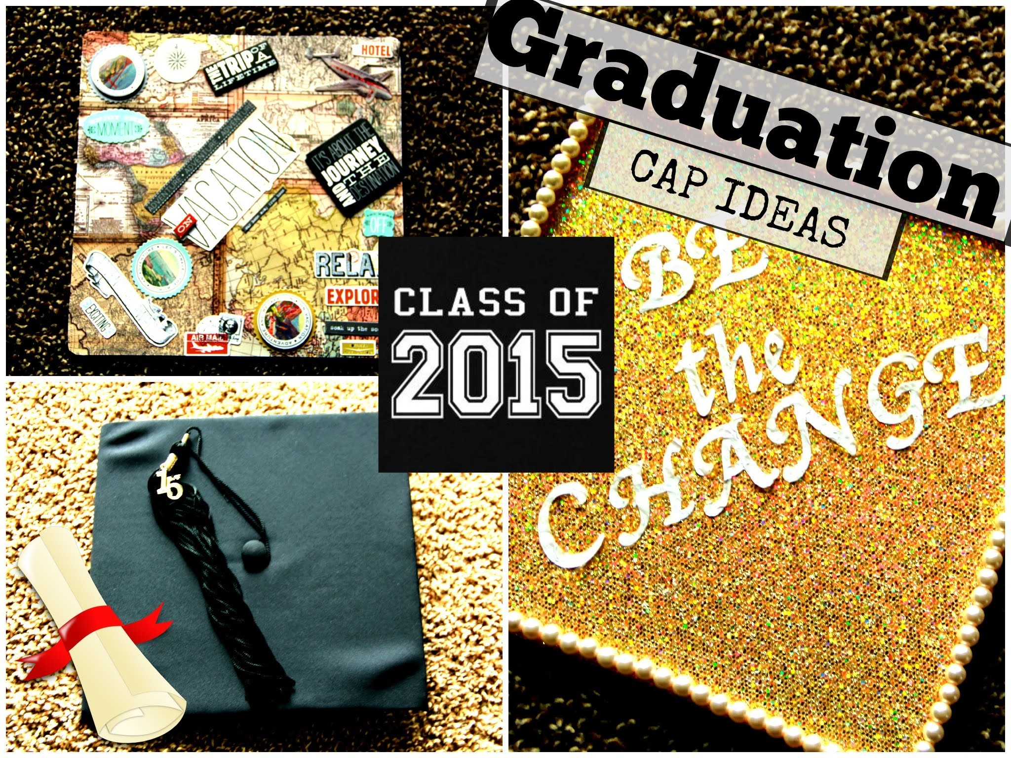 How To: Decorate Your Graduation Cap. Easy (Pinterest Inspired)    HeythereLaurin