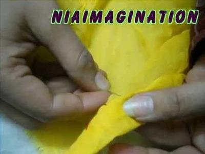 How to do turpai, put thread into needle- hem stitch