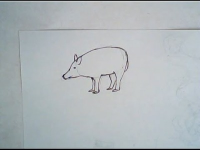 How to draw a boar (simple drawing)