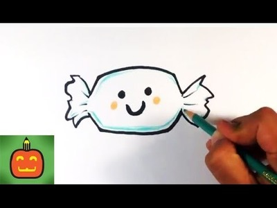 How to Draw a Cute Candy Treat - Halloween Drawings