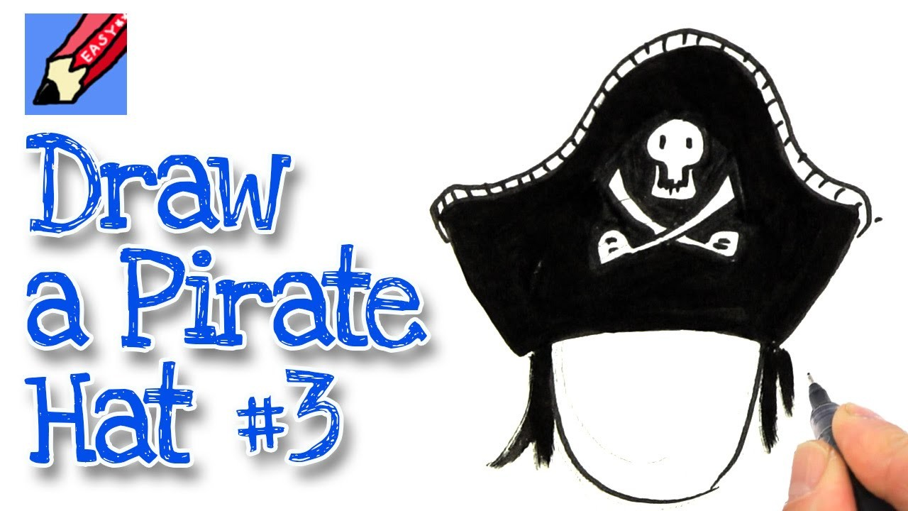 How to draw a Pirate Hat - Style 3