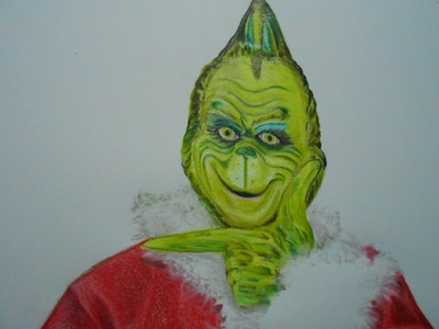 How to Draw Christmas The Grinch - Christmas Drawing Characters