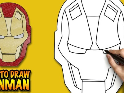 How to draw Ironman - Easy step-by-step drawing tutorial