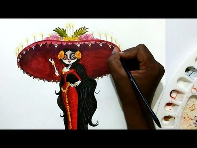 How to draw La Muerte  from book of life
