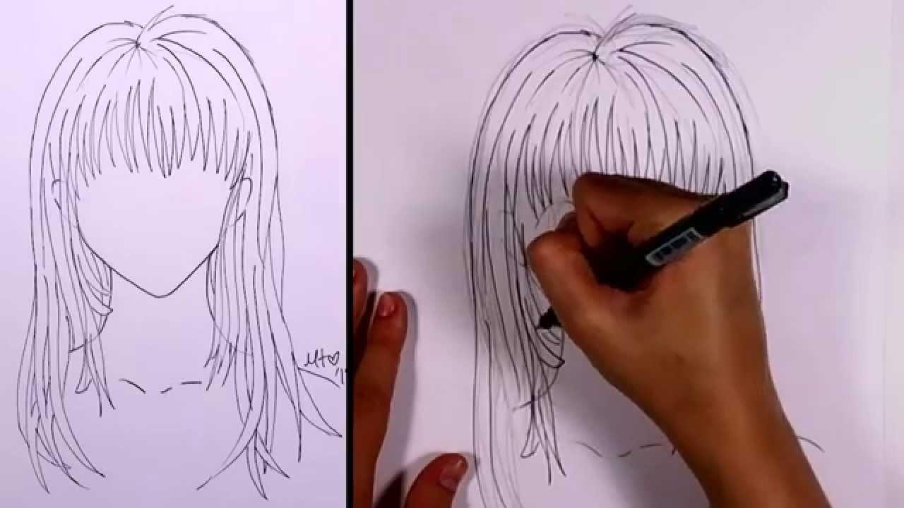 How to Draw Manga - Long Hair (girl)   MLT