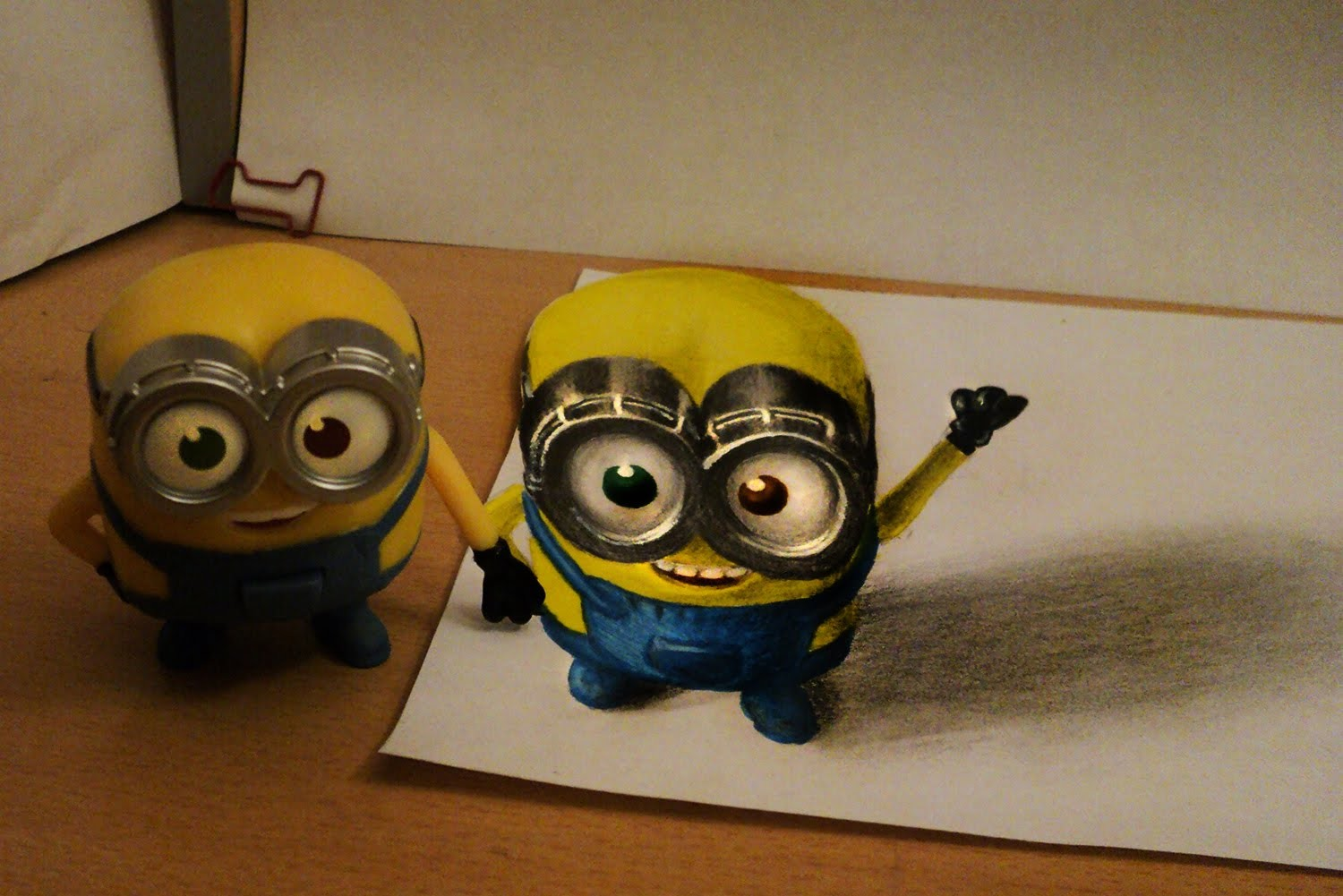 How to draw - minion 3d - anamorphic illusion - from bob figure