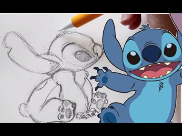How to Draw STITCH from Disney's Lilo and Stitch - @DramaticParrot
