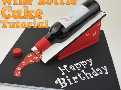 How to make a 3D Wine bottle birthday cake tutorial. Bake and Make with Angela Capeski.