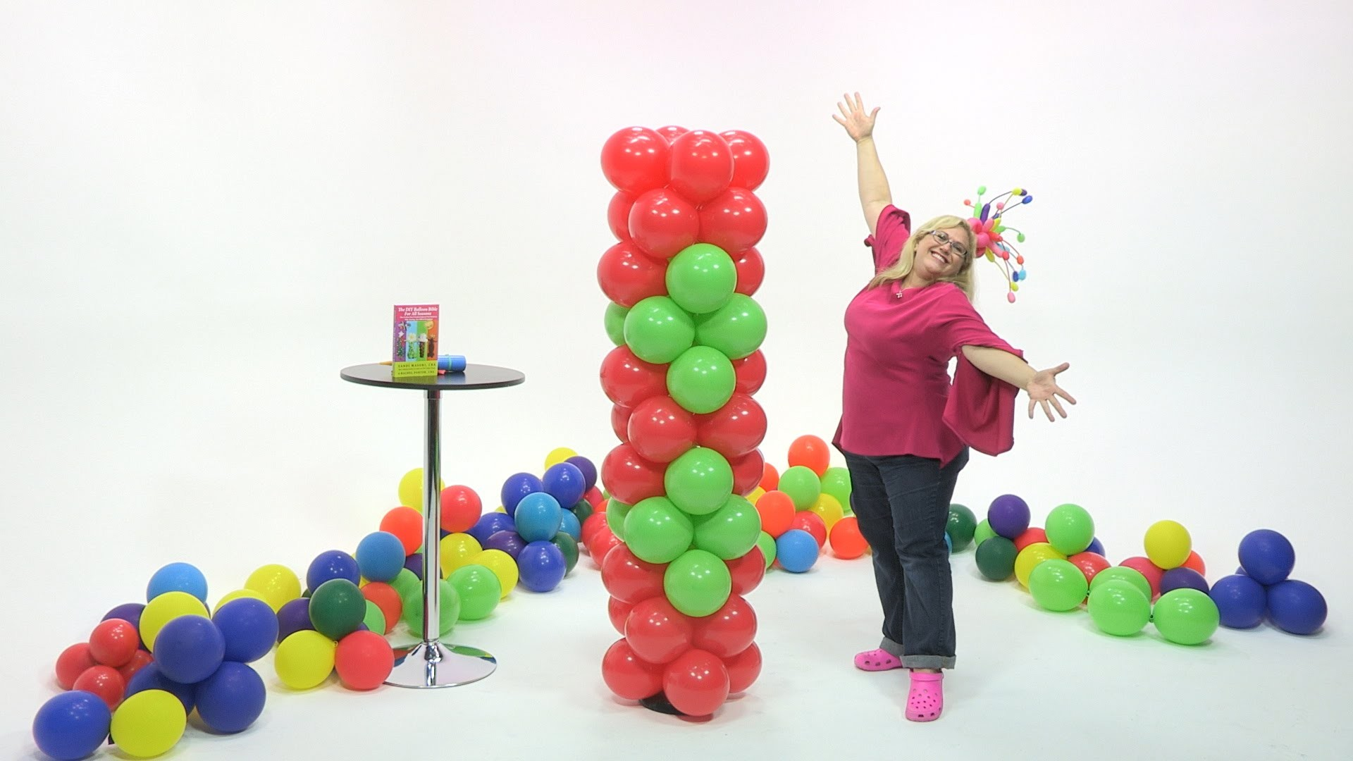 How To Make a Balloon Tower - Little Diamonds Pattern