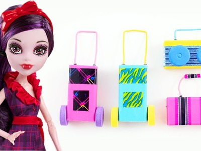 How to make a briefcase, a wheeled bag  and a radio for your doll - Easy Doll Crafts