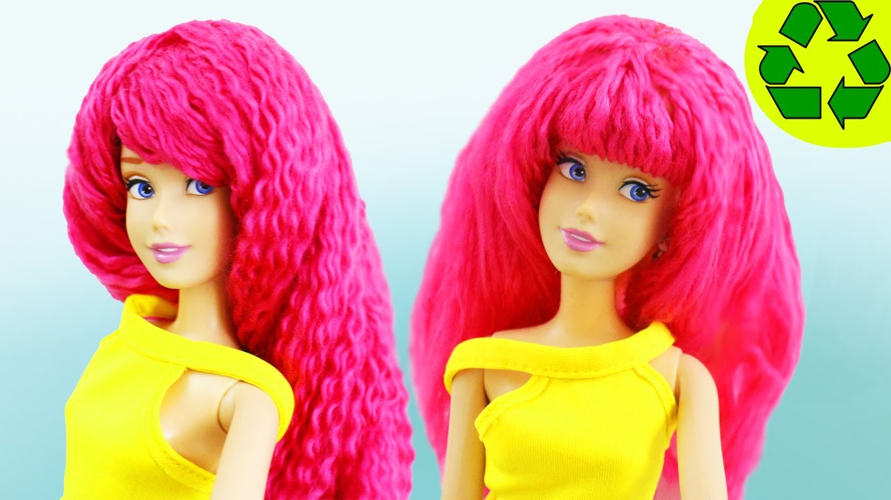 How to Make a DOLL WIG - Easy Doll Crafts