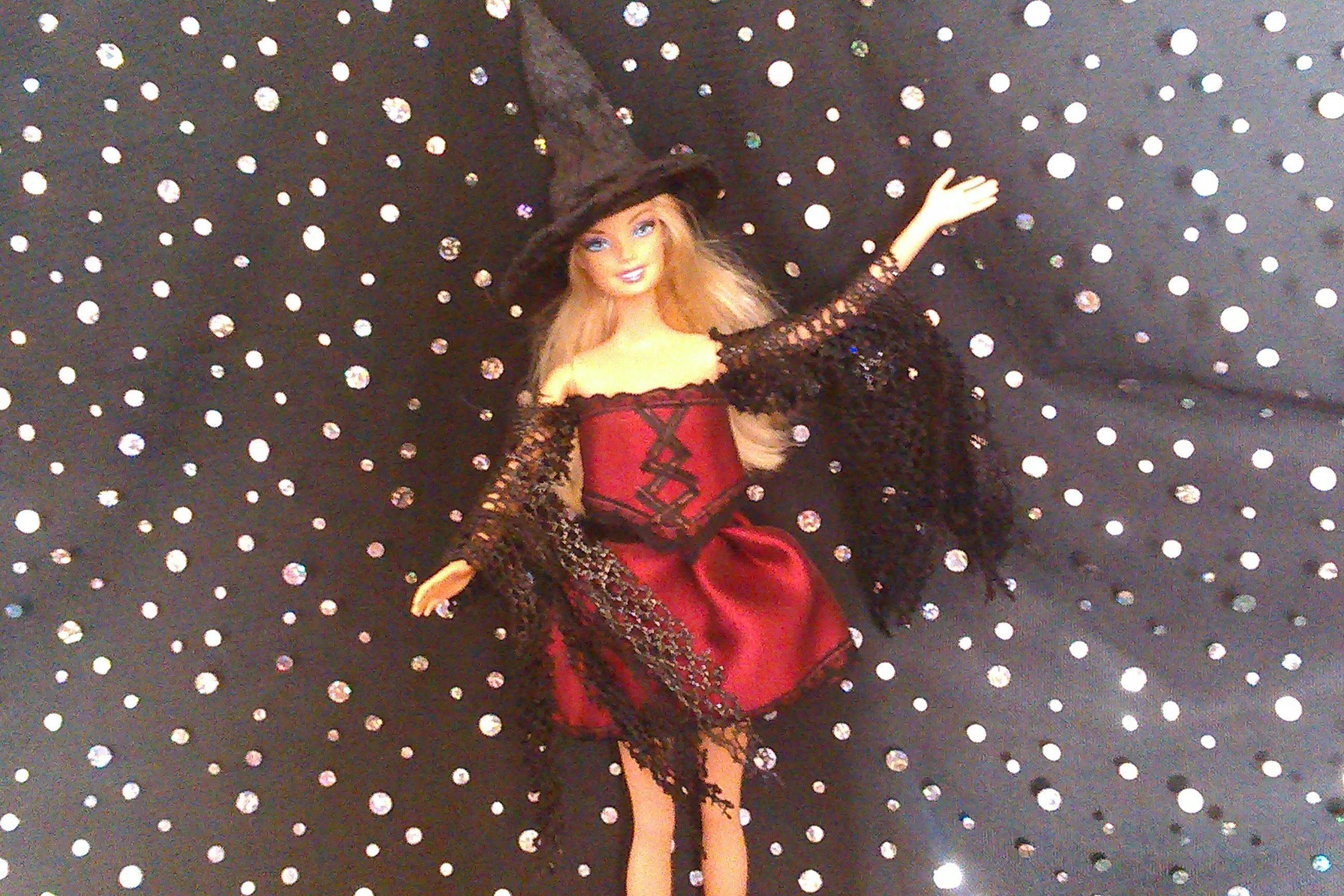 How to Make a Dolls Witch Costume and Hat