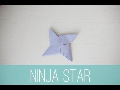 How to make a mini paper ninja star