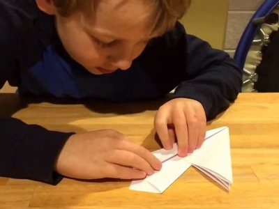 "How to Make a Paper Airplane - ""The Pointing Arrow"""