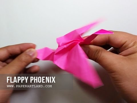 How to Make a Paper Flapping Phoenix - Batiendo Phoenix ( Easy )