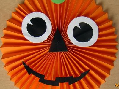 How to make a Paper Pumpkin? - Halloween Decorations