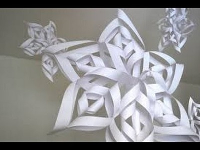 How To Make A Paper Snowflake | FAST EASY | HD
