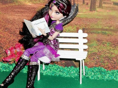 How to make a Park Bench for doll (Monster High, EAH, Barbie, etc)