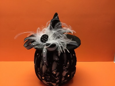 How to make a Pumpkin wearing a Witch Hat Tutorial