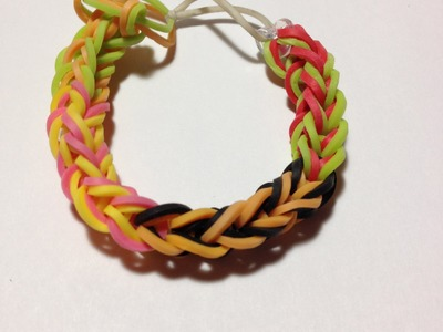How to make a rainbow loom tie dye bracelet without tie dye bands