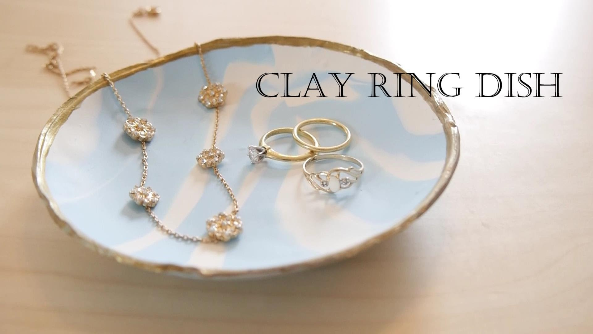 How to make a ring dish out of clay (easy!)