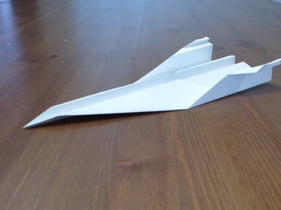 How to make a Simple Paper Airplane - Concorde Style