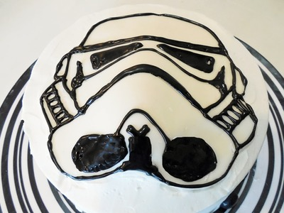 How to Make a StormTrooper Star Wars Cake with Jill