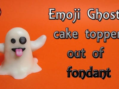 How to make an Emoji Ghost for Halloween out of fondant