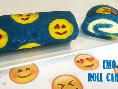 How to make an Emoji Roll Cake from Creative Cakes by Sharon