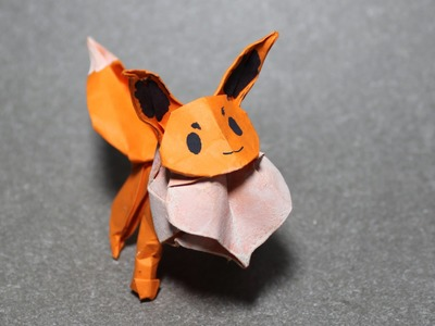 How to make an origami Pokemon - origami Eevee (Henry Phạm)