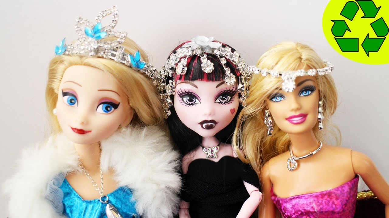 How to make circlets, crowns and inverted tiaras for your dolls