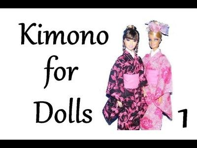 How to make doll clothes - Kimono (part 1)