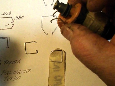 How to Make Fuel Injector Connector Retainer Spring Clips from Paper Clips 1