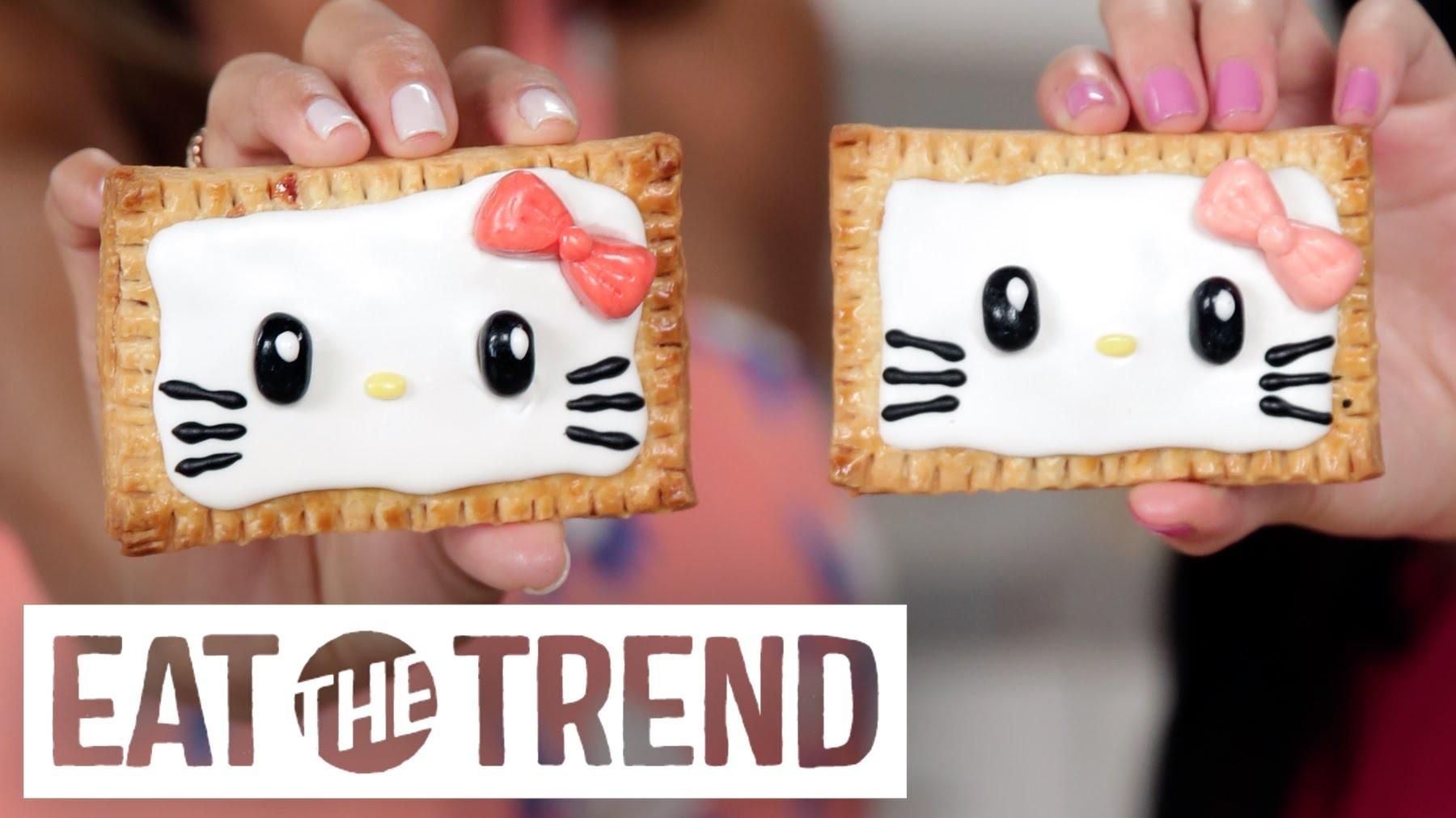 How to Make Hello Kitty Pop Tarts With Kawaiisweetworld | Eat the Trend