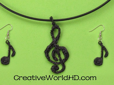 How to Make Music Note.Treble Clef.Budget Jewelry 3D Printing Pen.Scribbler DIY Tutorial