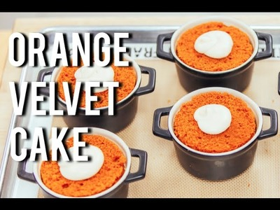 How To Make ORANGE VELVET CAKE! For the days you don't want Red Velvet (: