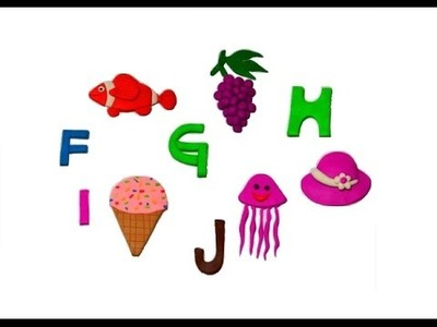 How to make Play-Doh Alphabet, Play-Doh ABC (F, G, H, I, J)