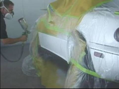 How to Restore a Car's Paint Job : How to Spray Car Paint with Clear Coat