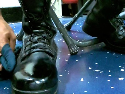 **!! HOW TO SPIT SHINE. POLISH MILITARY BOOTS !!*