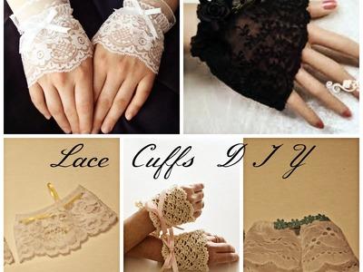 Lace Wrist Cuffs DIY