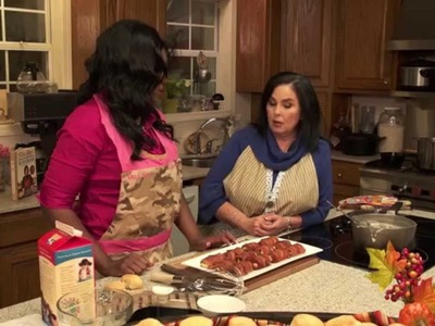 Miss Kay of Duck Dynasty teaches Michelle how to make Duck Wraps!!