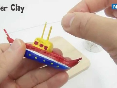 NARA Tutorial: PAPER CLAY_how to make BOAT IN BOTTLE