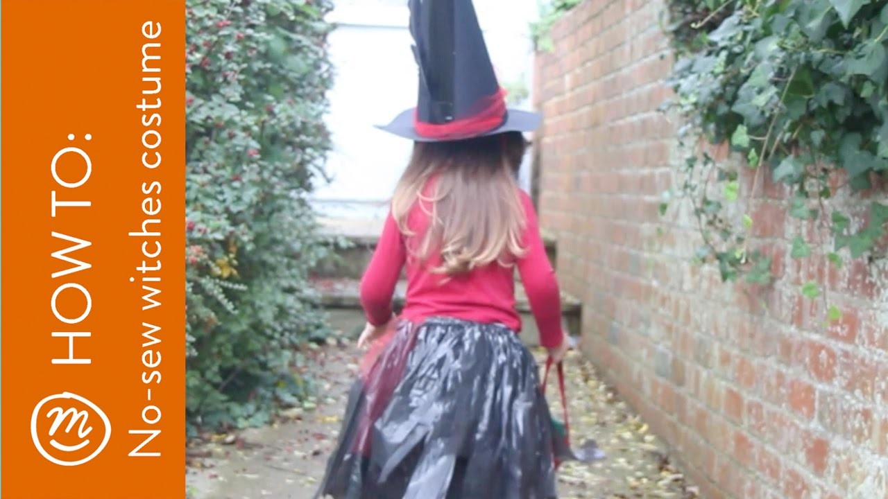 No sew witch costume | HOW TO from Channel Mum
