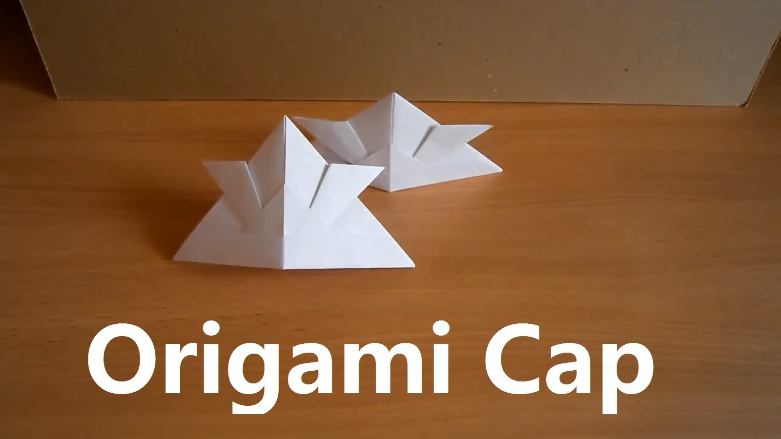 Origami cap. How to make a paper hat