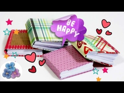 Origami: How to Tiny books Bookbinding mini books with Easy Origami 3D Mathie