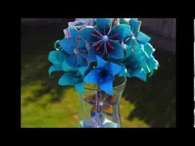 Origami Kusudama Flowers # 004 (using recycled paper)